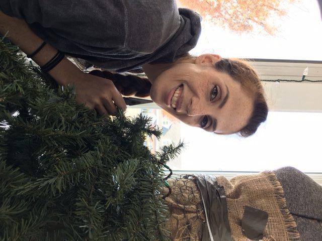 Volunteer Brightens Downtown Windows