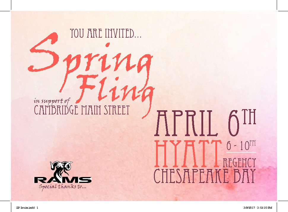 Spring Fling set for Thursday 4/6