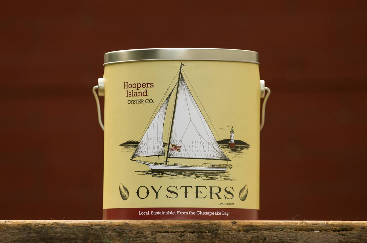Hoopers Island Oyster Co. debuts its 2018 commemorative oyster tin at Black Water Bakery