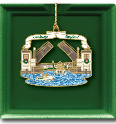 2018 Holiday ornament Cambridge Creek Bridge MD