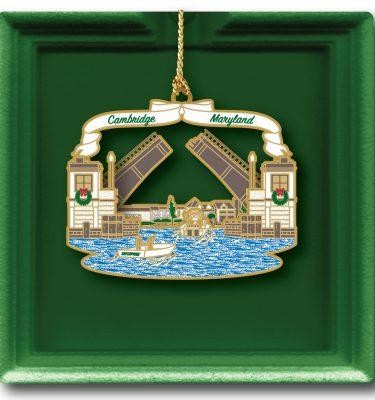 2018 Holiday ornament Cambridge Creek Bridge MD