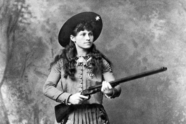 Annie Oakley with shotgun