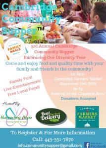 3rd Annual Cambridge Community Supper Brochure