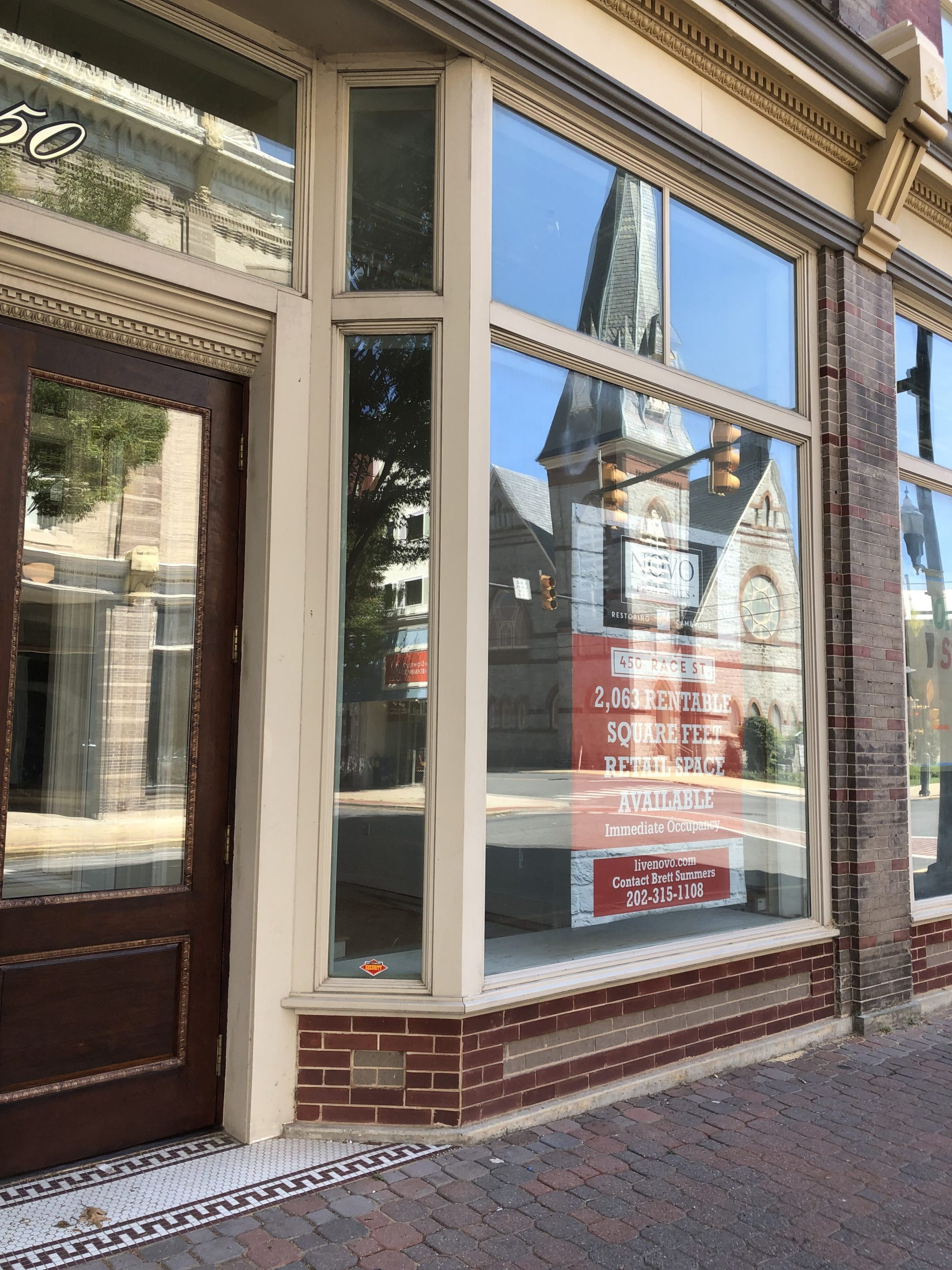 Windows of commercial space 450 Race Street Cambridge MD